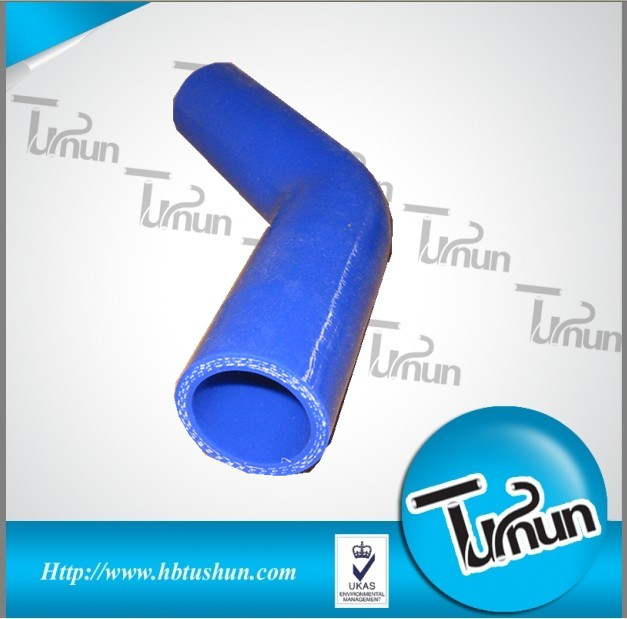 High performance 45 degree silicone elbow hose with 3.5 inch/ 89 mm