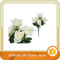 7 stems Large Roses Artificial Flower Various Colors