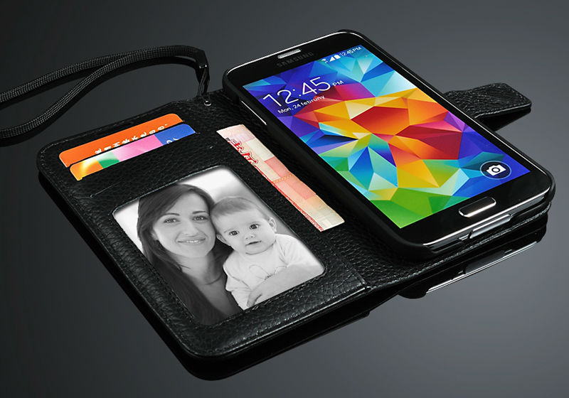 Genuiue leather phone case for Samsung S5