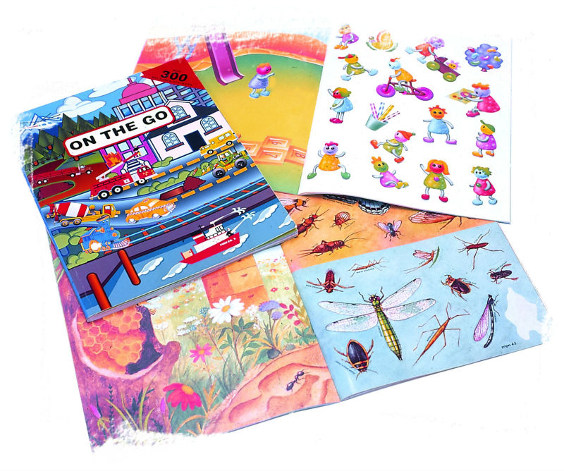 FUNZTIC l Self-Adhesive Children Stickers & Sticker Books