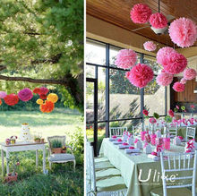 Yard Wholesale Wedding Tissue Paper Pom Poms Flower Balls hanging flower balls for wedding