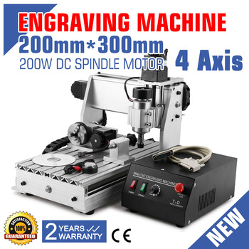 2017 Hot 4 Axis 3020t CNC Router Engraving Machine for Wood, Plastic, Metal