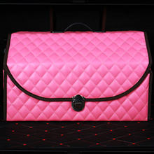 Pink Folding Storage Box For Car Trunk