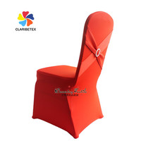 Fancy lycra banquet chair cover with cross belt crystal buckle, New design spandex chair cover