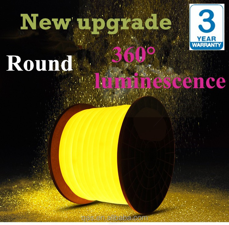 DC24V LED Neon Flex Light 2835 2 Wires Round LED NEON LAMP for outdoor decoration 360 degree luminescence