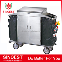 Hotel laundry cart trolley factory price