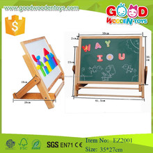 Custom portable drawing board dry erase board woodenmini easel for children