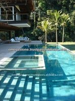 Premium Quality of Green Sukabumi Stone for Exterior Non-Slip Swimming Pool Floor Tile