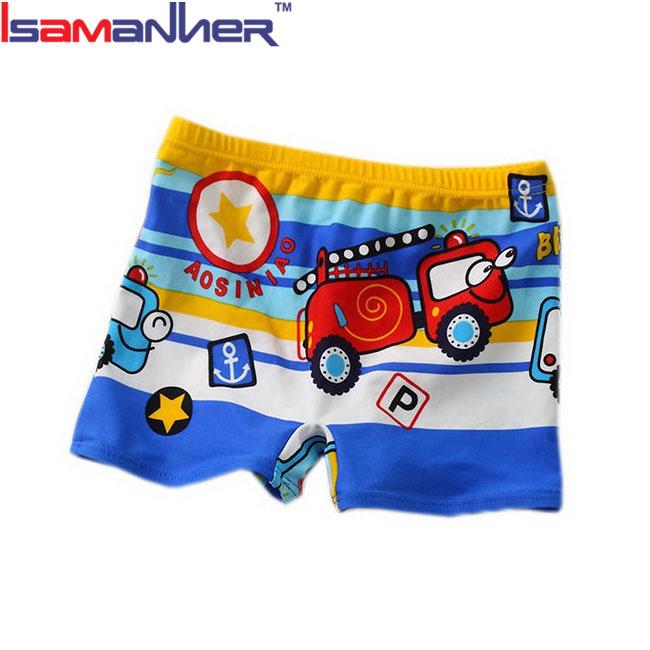 08a24552fe Car printing boxer swimming brief toddler infants kids boys anime swim  trunks