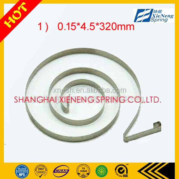 Different kind SUS301 coil toy flat extension constant force spring