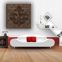 Home decoration iris pattern wall fabric painting designs for living room