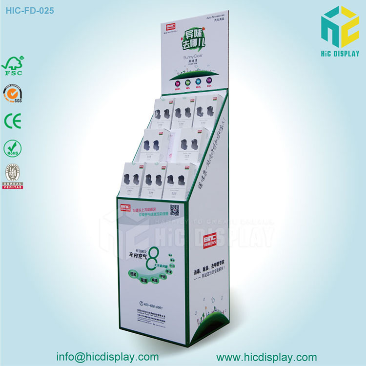 Full printed Custom Floor Paper display stand for air fresher