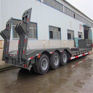 China high quality heavy duty log 3 axles low bed trailer manufacturers for sale