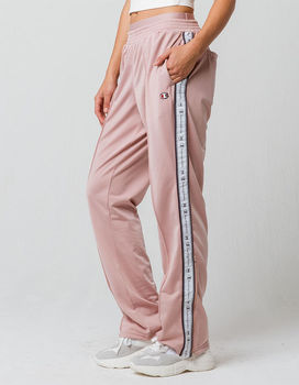 Casual style women's taping down leg and stitched leg creases  track pants with back welt pockets