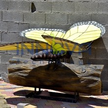 Giant animatronic insect model butterflies