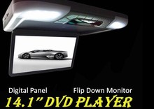 low price flip down monitor dvd player with usb port