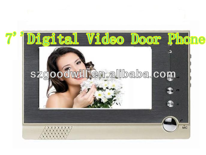 "2016 new design 7"" video door phone intercom"