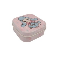 hot sale can empty mini square candy tin