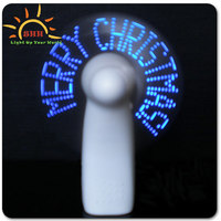 2015 FREE DESIGN New Products Promotional Gift Mini Flashing Message LED Fan