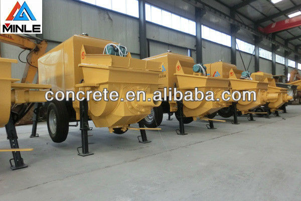 Portable coal mining trail mount concrete pumping machine for hot sale