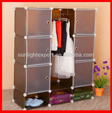 PP foldable wardrobe/convenient plastic wardrobe