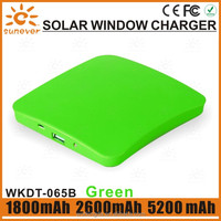 2014 hot sell 1800mAh Window Solar Mobile Charger for Iphone