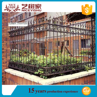 2016 decorative cast metal garden fence,courtyard fence panels,low price wrought iron fence panels for sale