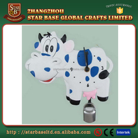 Professional made wholesale resin promotional cow shape wall clock with low price