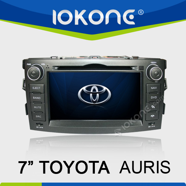 7'' 2 din in dash touch screen toyota auris radio player with gps bt pip ipod map sd card rear view camera