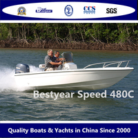 Speed480c fiberglass Fishing Boat centre console Speed boat