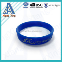 Fashion customized debossed logo sports equipment for silicone band