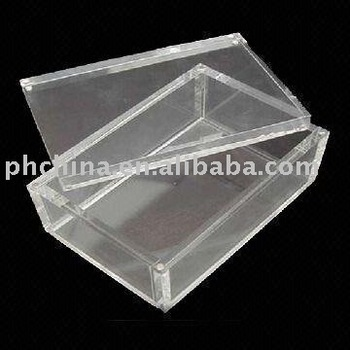 Acrylic Display Box with Movable Magnetic Top Cover