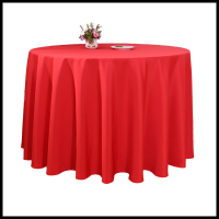 factory direct sale 100% polyester round restaurant wedding linen tablecloth