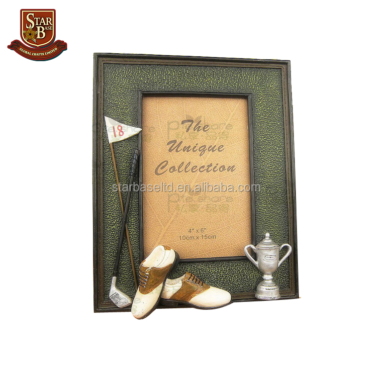 Factory custom made resin golf club trophy picture frame supporters creative craft gift