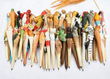 All kinds of animal shapes Exquisite wooden promotional pens