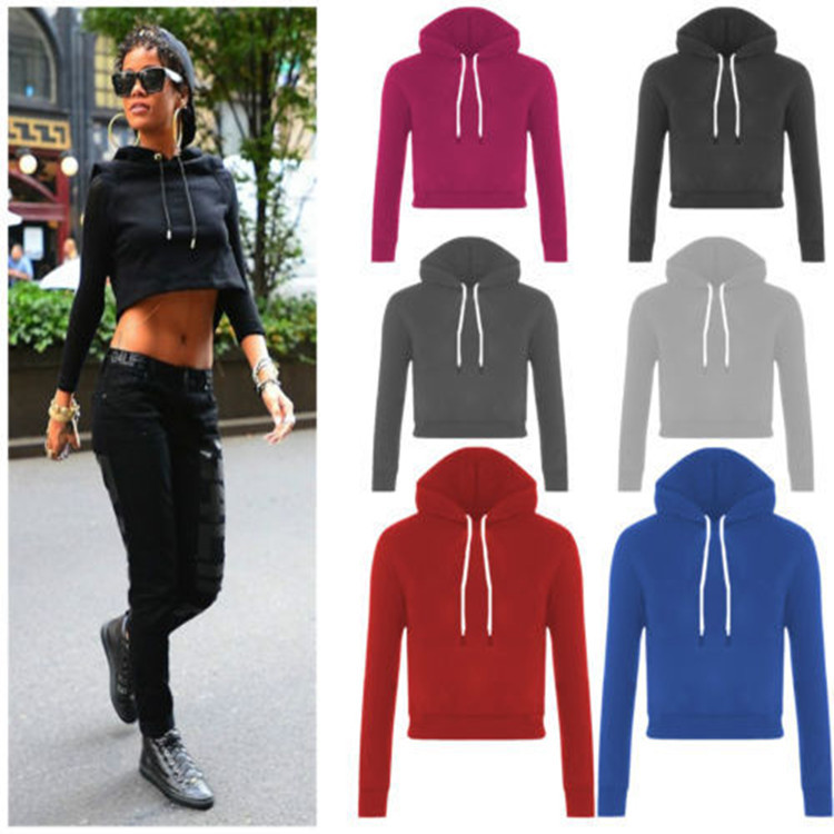 Ladies Cheap Price Fitness Cropped El Hoodies Multi Colors From China Alibaba