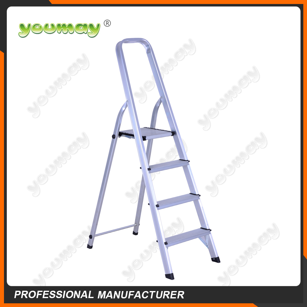 gs approved foldable easy store step ladder with aluminum material