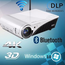 3D 1080P 4K Projector Full HD Video Mini Portable Projectors 1280x800 Native Resolution Windows 10 Bluetooth Wireless Beamer