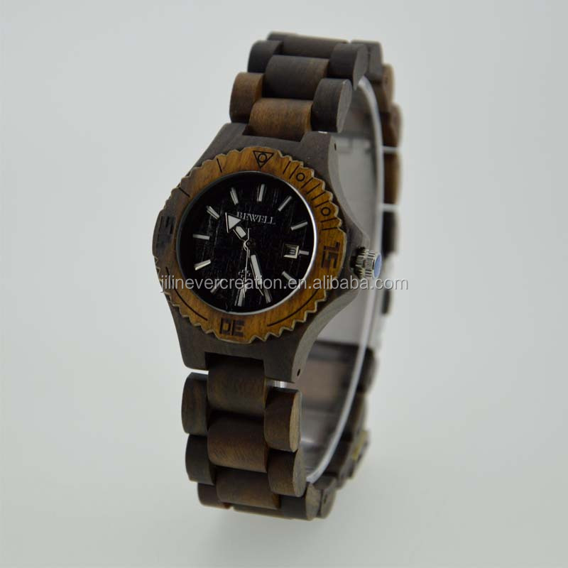 smart wooden hand watch for girl 2016