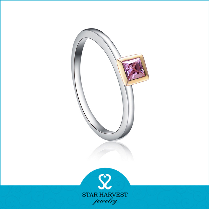 Very Simple Design Engraved S925 Ring For girls