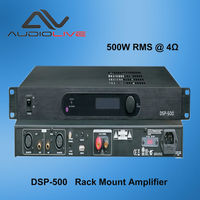 500W DSP Controllable Class-D Power Subwoofer Amplifier