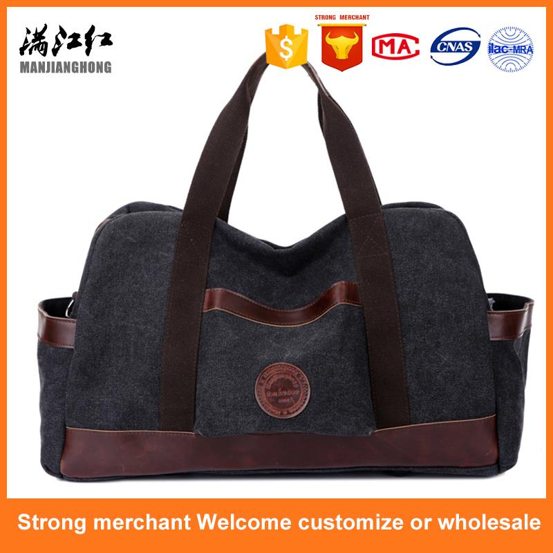 New design retro men canvas duffle gym bag