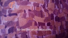 Fashion Painted Pattern Embossing Faux PU Synthetic Leather