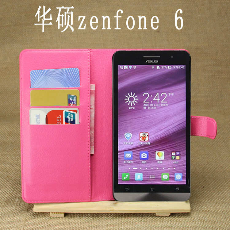 Hot Selling Mobile Phone Leather Case Leather Flip Case For Asus Zenfone 6