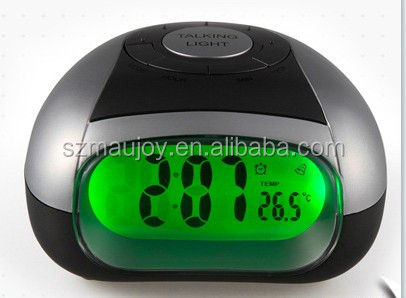 Big LCD Display Digital Talking Alarm Clock