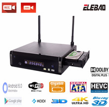 "Elebao realtek rtd1295 Aluminum alloy Shell 4K Hdr 10bit ultra 3.5"" sata hdd bluray player with android 6.0 OS"