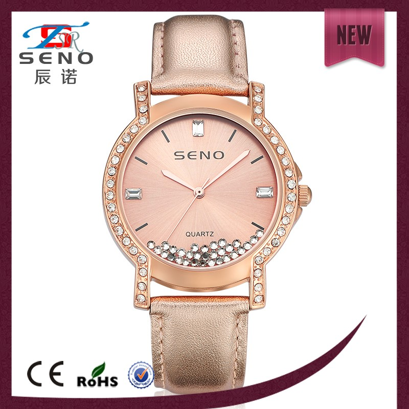 Pictures of fashion girls watches hot sale leather strap watch with nice diamond