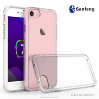 TPU Bumper with Clear Acrylic Backplate Hybrid Phone Case Cover for Apple iphone 7