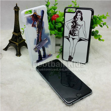 2D sublimation hard PC phone case for iphone 6 with metal insert Blank 2D sublimation case
