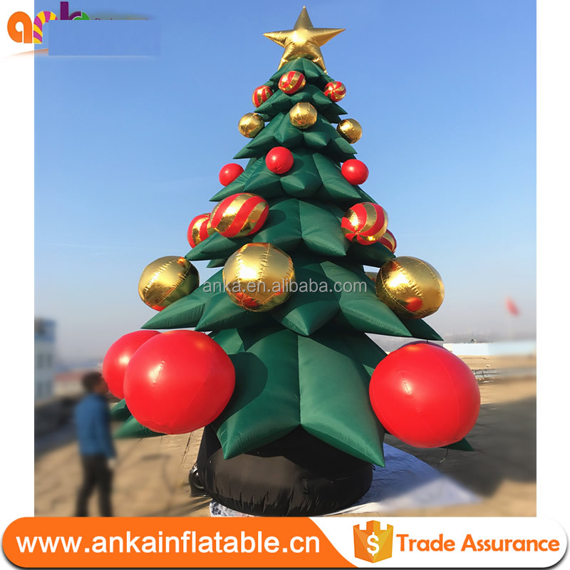 Giant ornament inflatable tree christmas decoration with led light